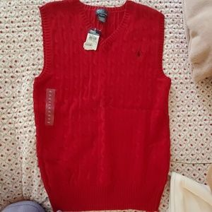 BOYS Red Polo Vest